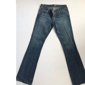 Seven7 Super Low Cut Bootcut Stretch Jeans